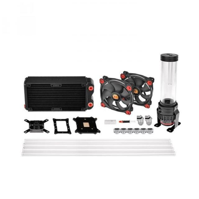 Водяное охлаждение Thermaltake Pacific Gaming RL240 D5 PETG LCS Kit, CL-W198-CU00RE-A